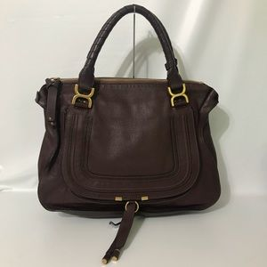 Authentic Chloe Large Marcie Burgundy